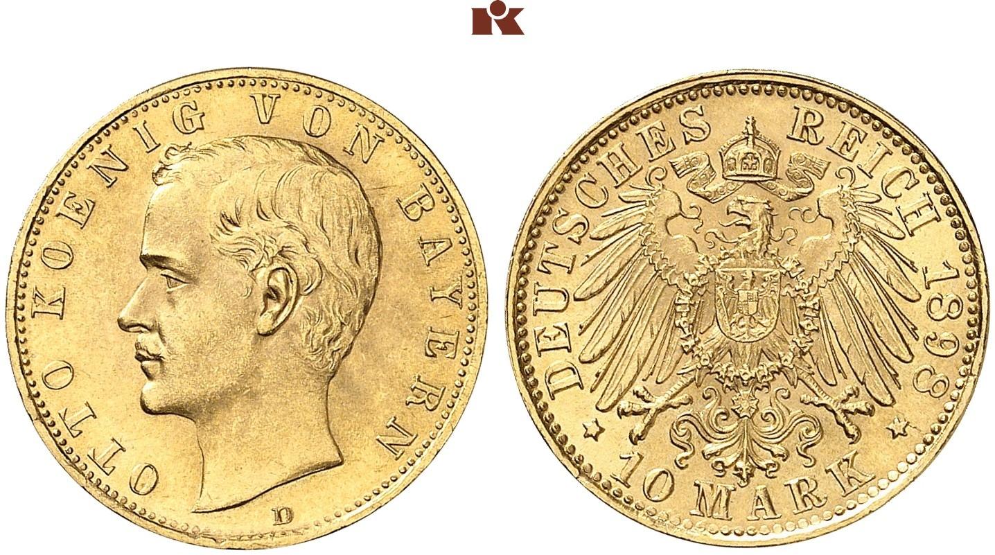 DE 10 Mark 1898 D