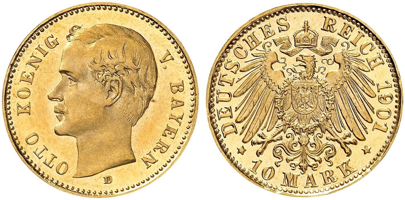 DE 10 Mark 1901 D