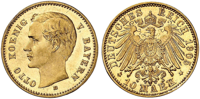 DE 10 Mark 1905 D