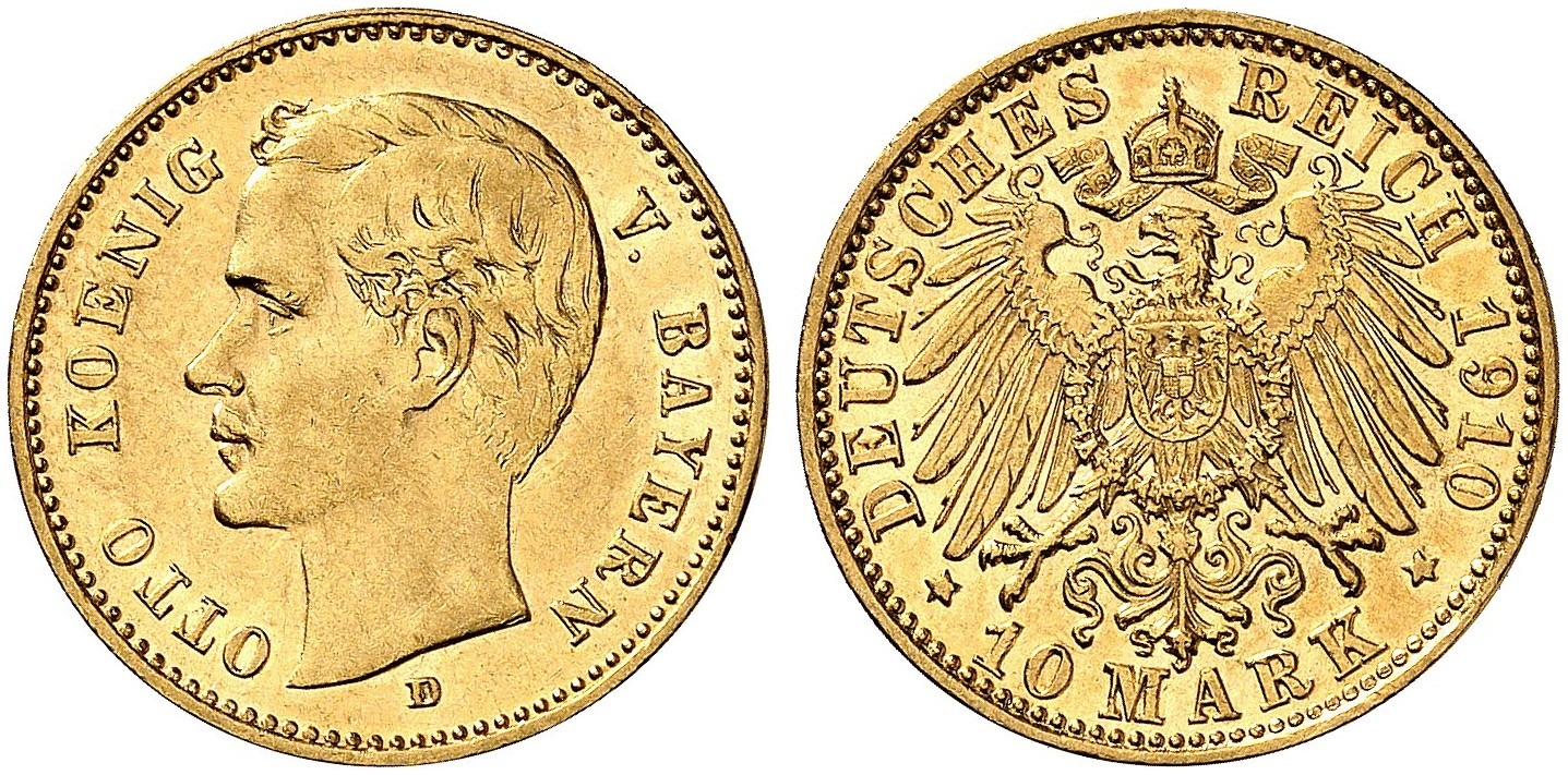 DE 10 Mark 1910 D