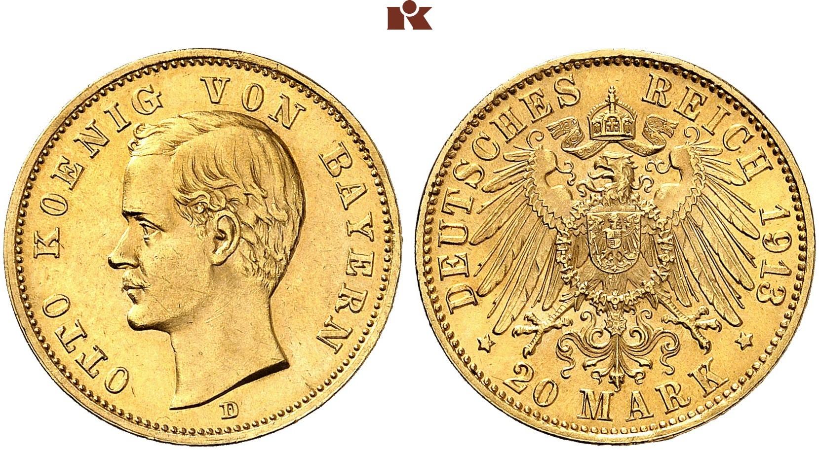 DE 20 Mark 1913 D