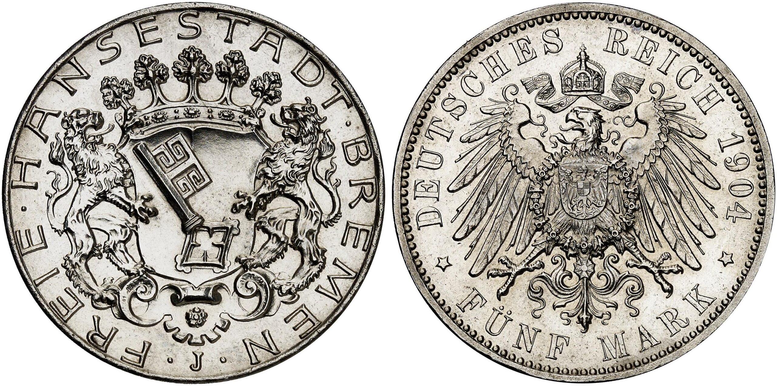DE 5 Mark 1904 J