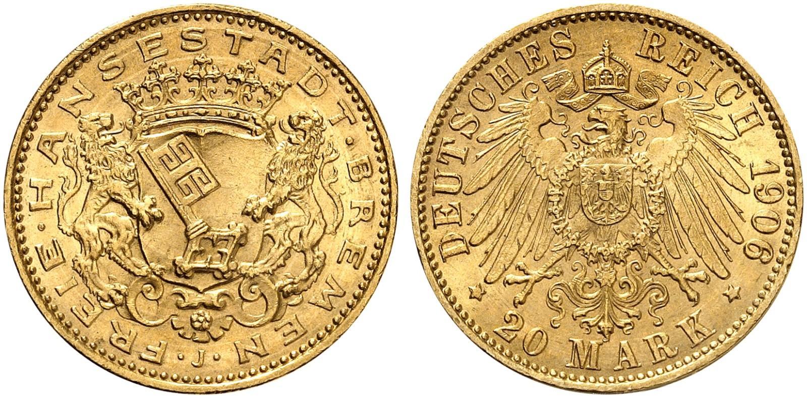 DE 20 Mark 1906 J