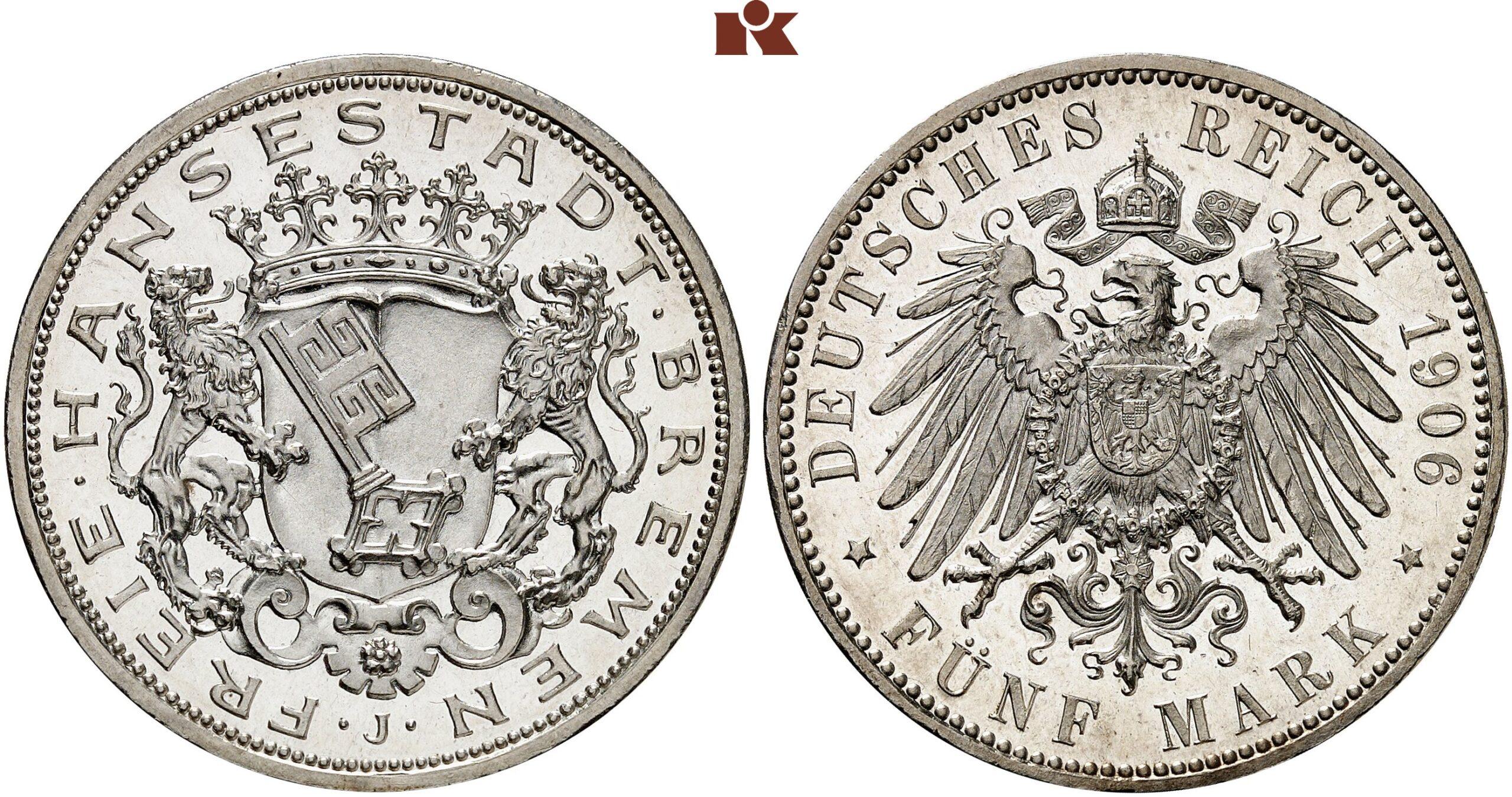 DE 5 Mark 1906 J