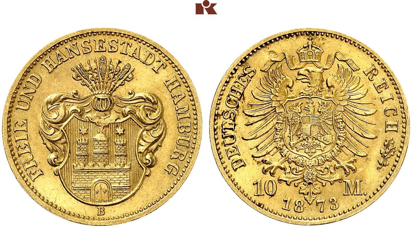 DE 10 Mark 1873 B