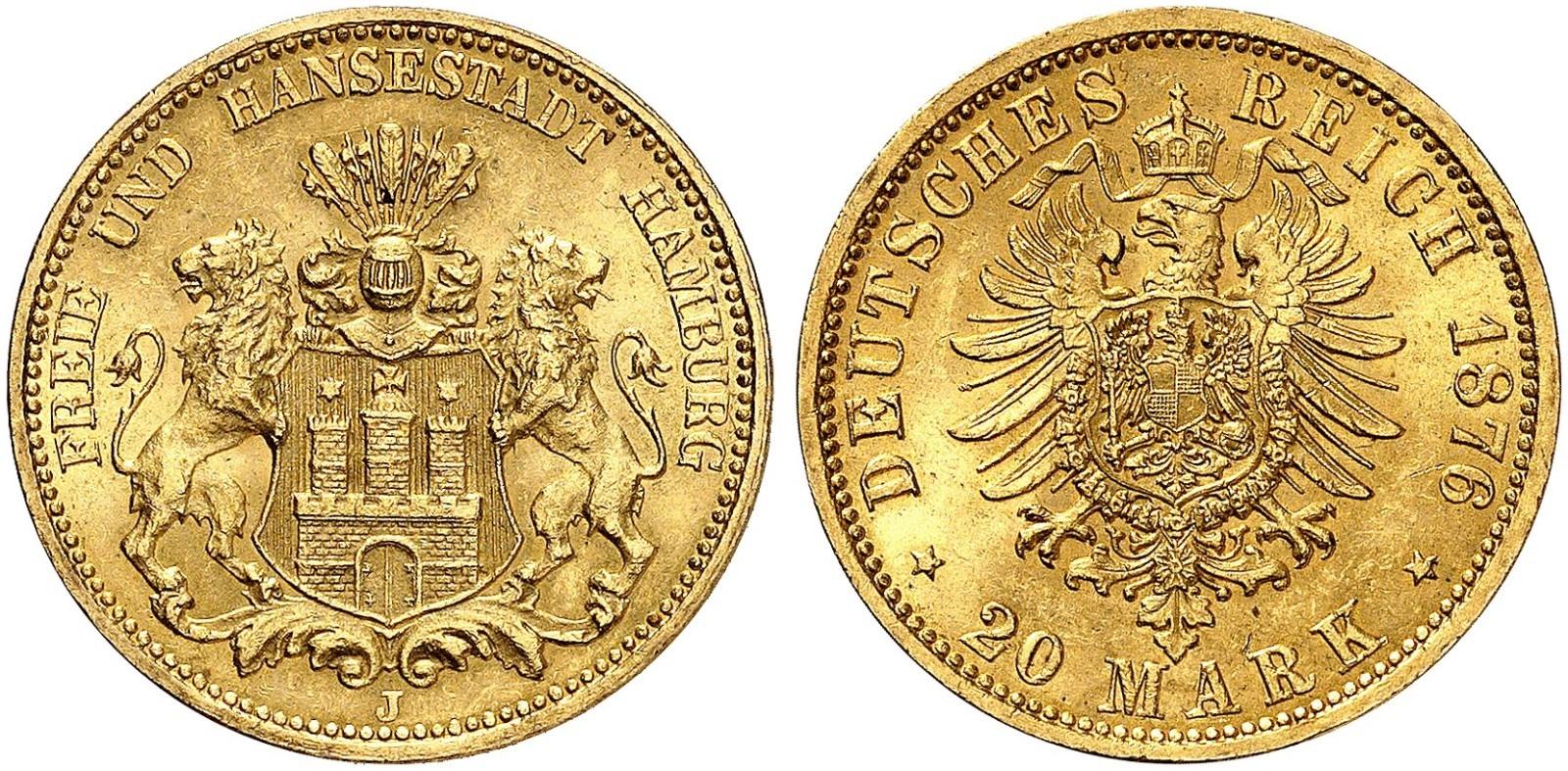 DE 20 Mark 1876 J