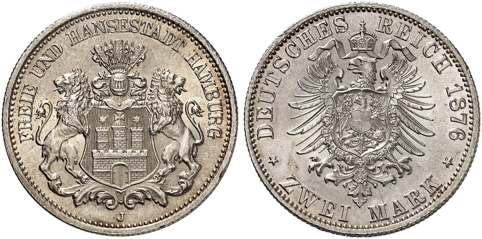 DE 2 Mark 1876 J