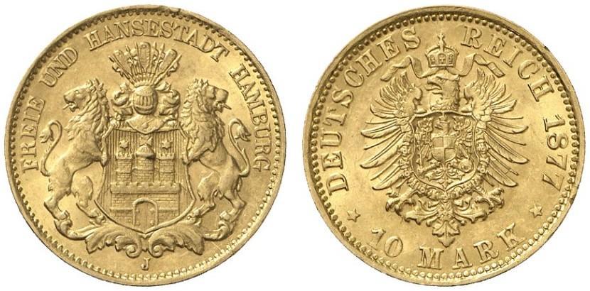 DE 10 Mark 1877 J