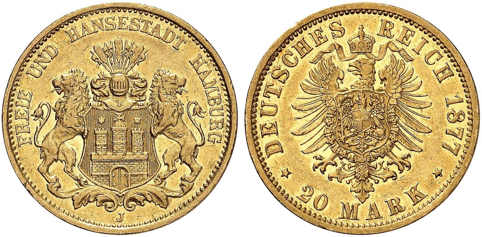 DE 20 Mark 1877 J