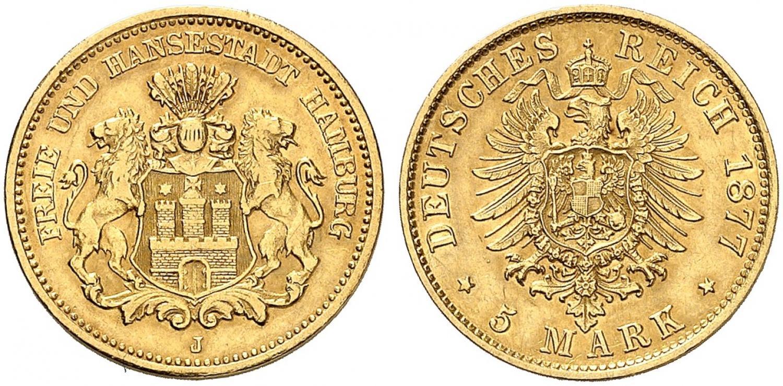 DE 5 Mark 1877 J