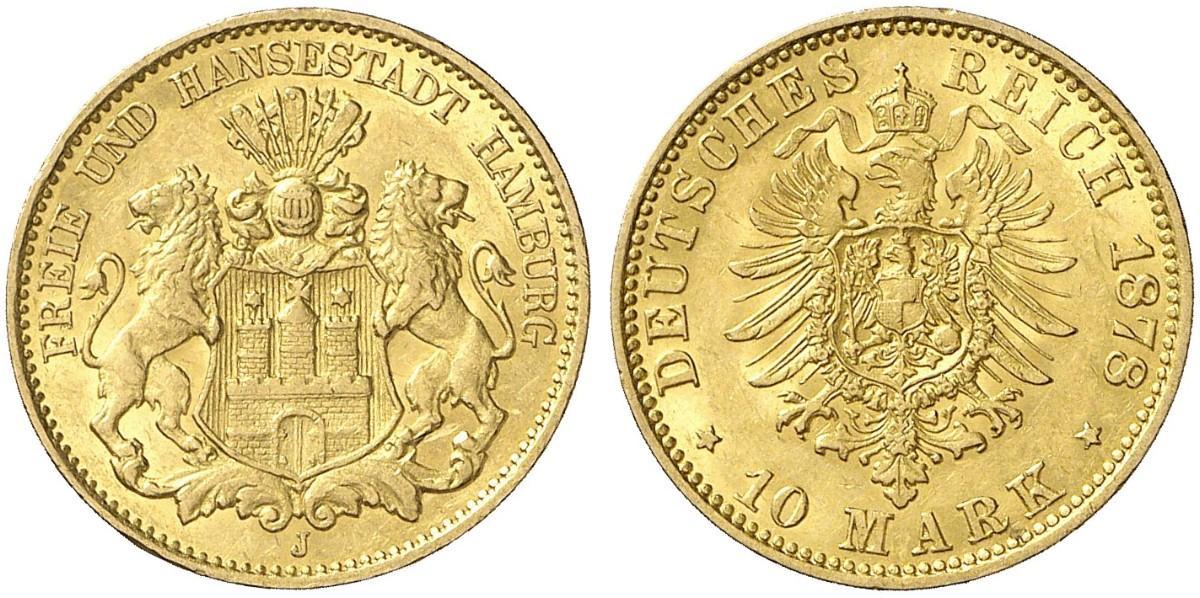 DE 10 Mark 1878 J