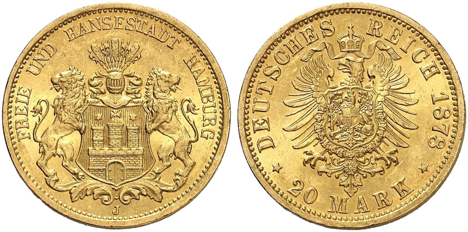 DE 20 Mark 1878 J