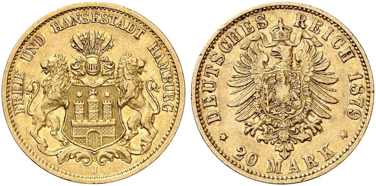 DE 20 Mark 1879 J