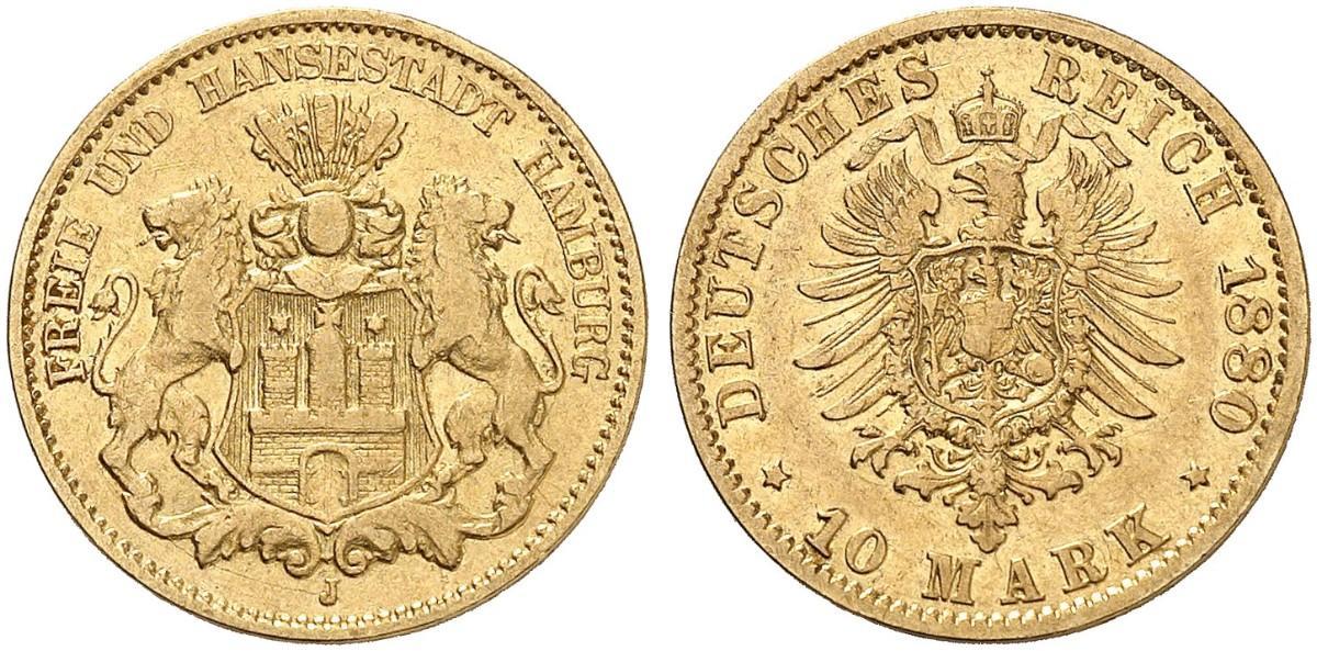 DE 10 Mark 1880 J