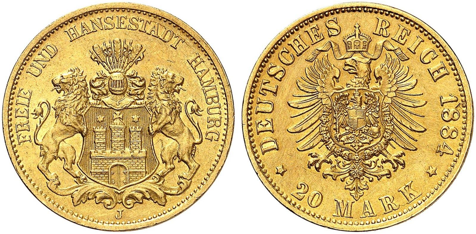 DE 20 Mark 1884 J