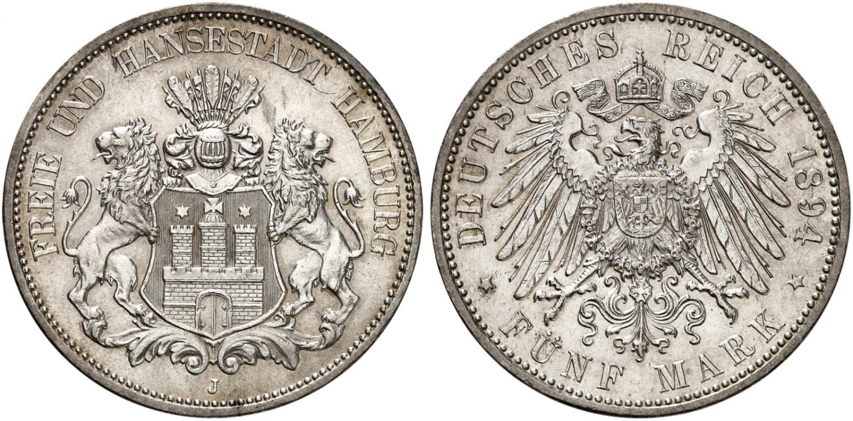 DE 5 Mark 1894 J