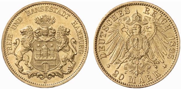 DE 20 Mark 1895 J