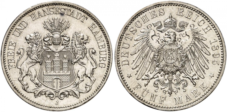 DE 5 Mark 1895 J