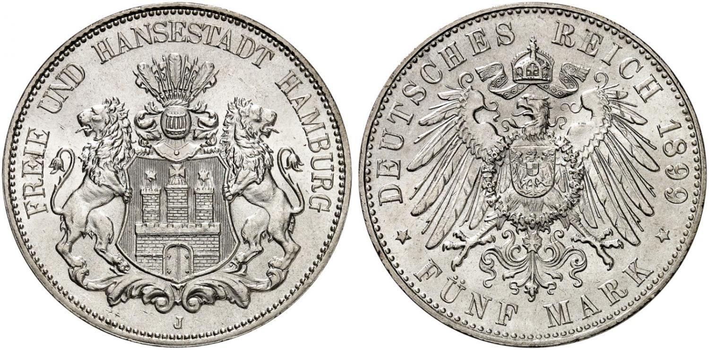 DE 5 Mark 1899 J