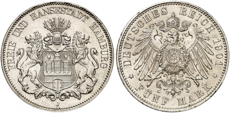 DE 5 Mark 1901 J