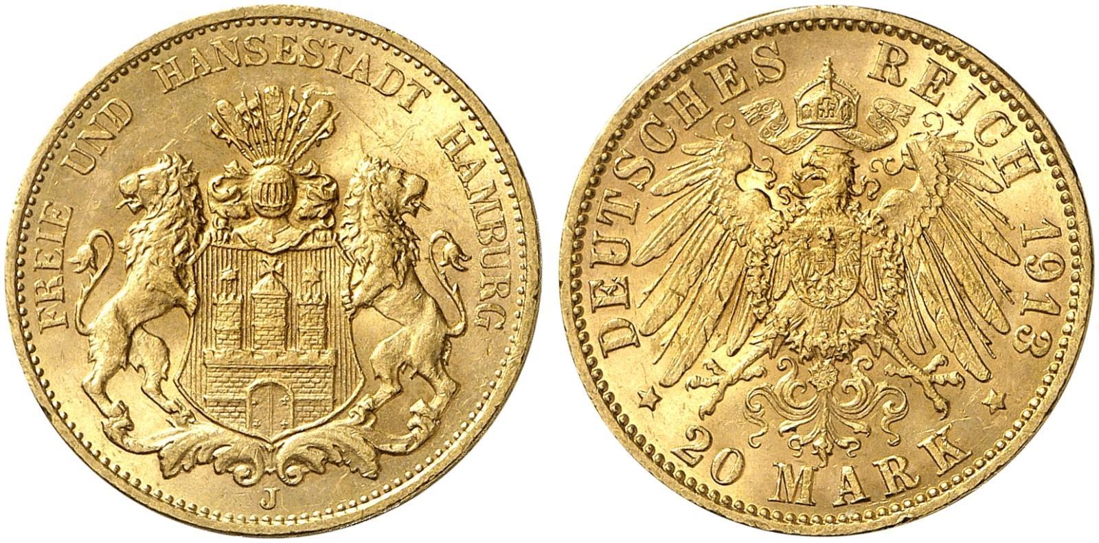 DE 20 Mark 1913 J