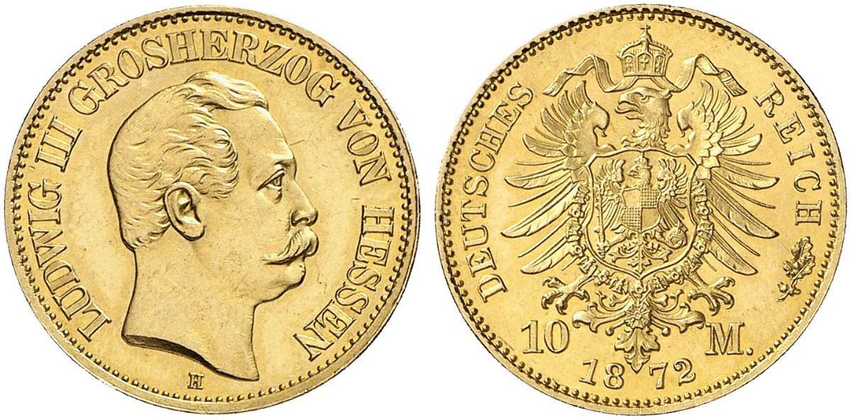 DE 10 Mark 1872 H