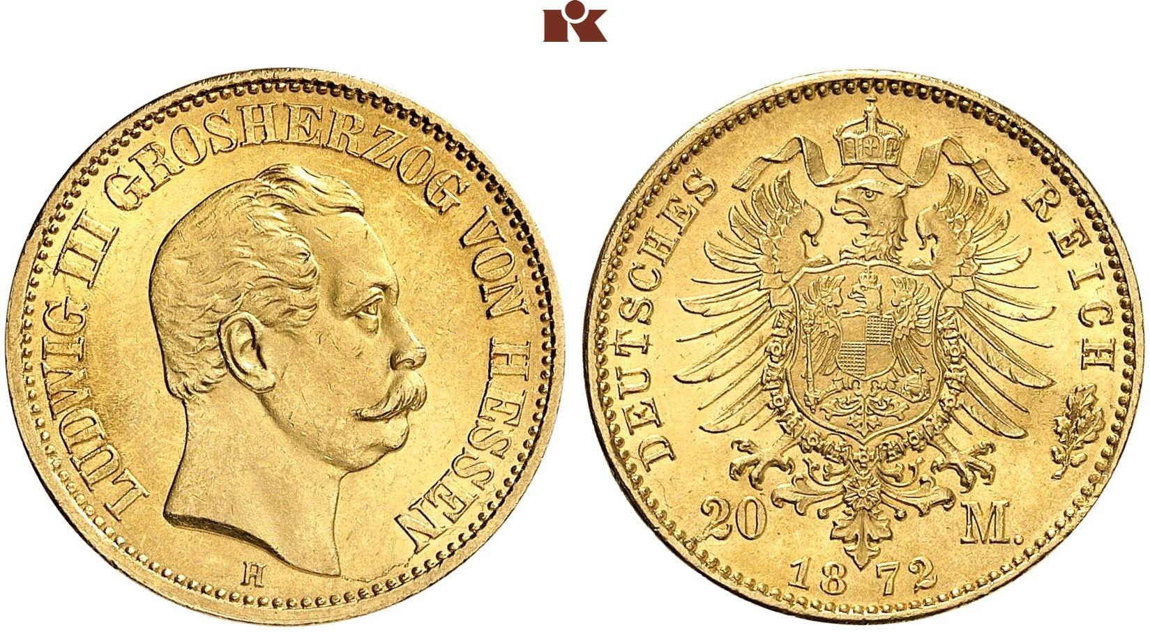DE 20 Mark 1872 H