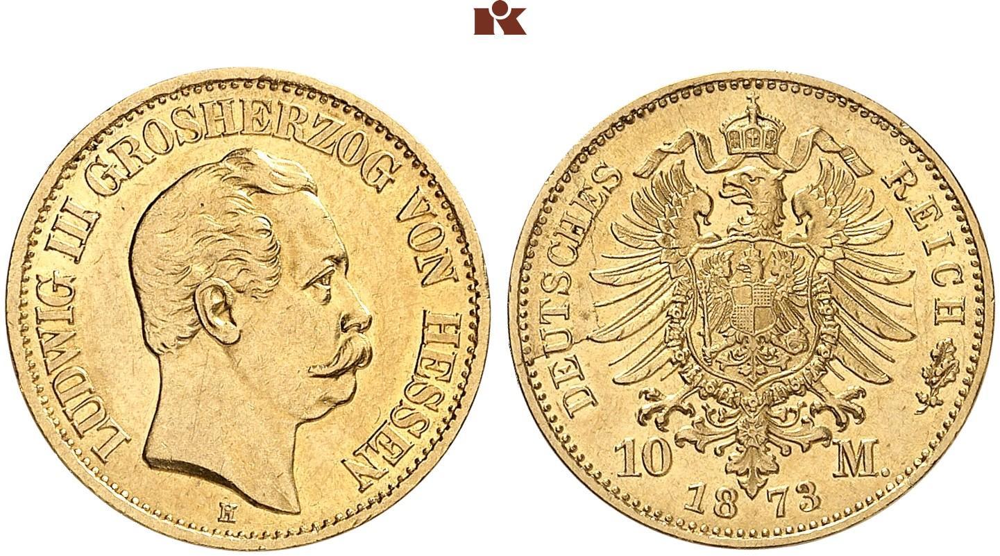 DE 10 Mark 1873 H