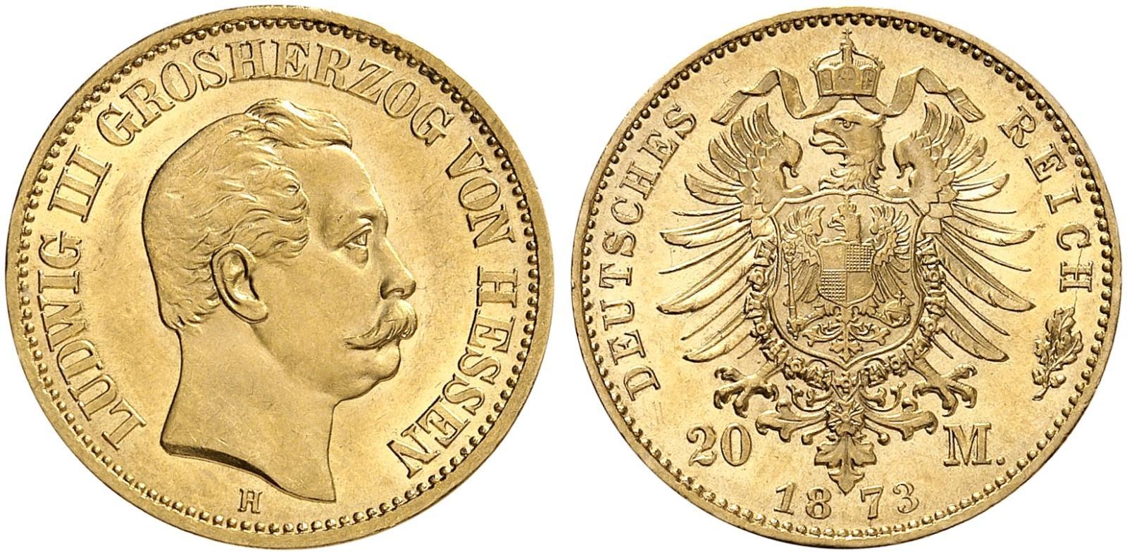 DE 20 Mark 1873 H