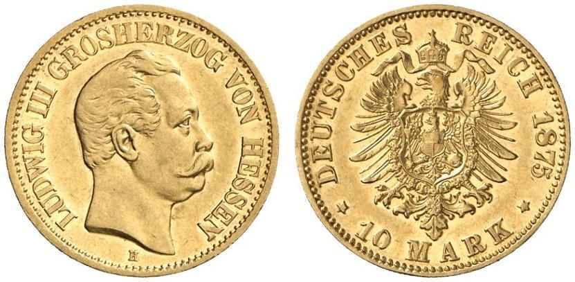 DE 10 Mark 1875 H