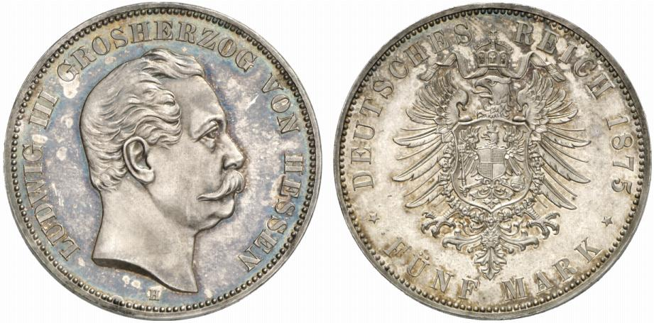 DE 5 Mark 1875 H