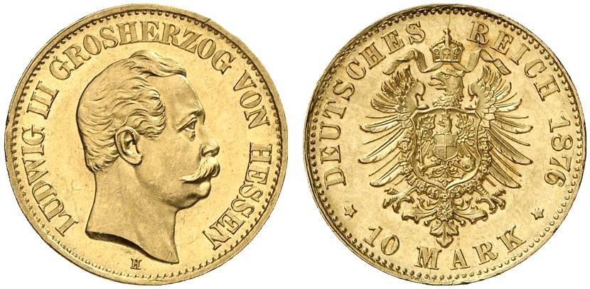 DE 10 Mark 1876 H