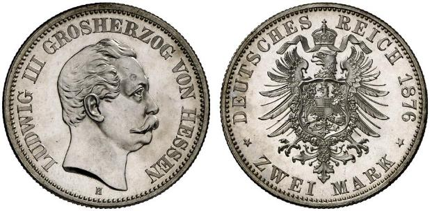 DE 2 Mark 1876 H