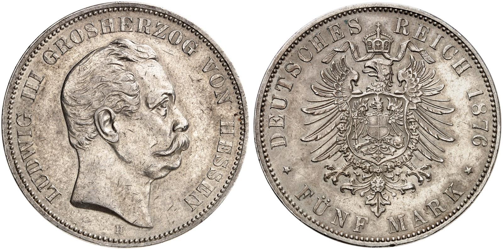 DE 5 Mark 1876 H