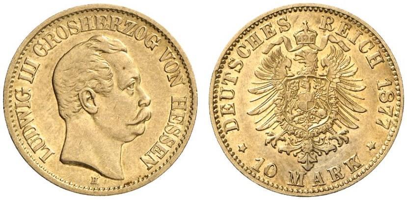 DE 10 Mark 1877 H