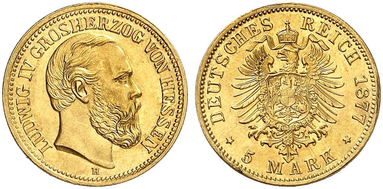 DE 5 Mark 1877 H