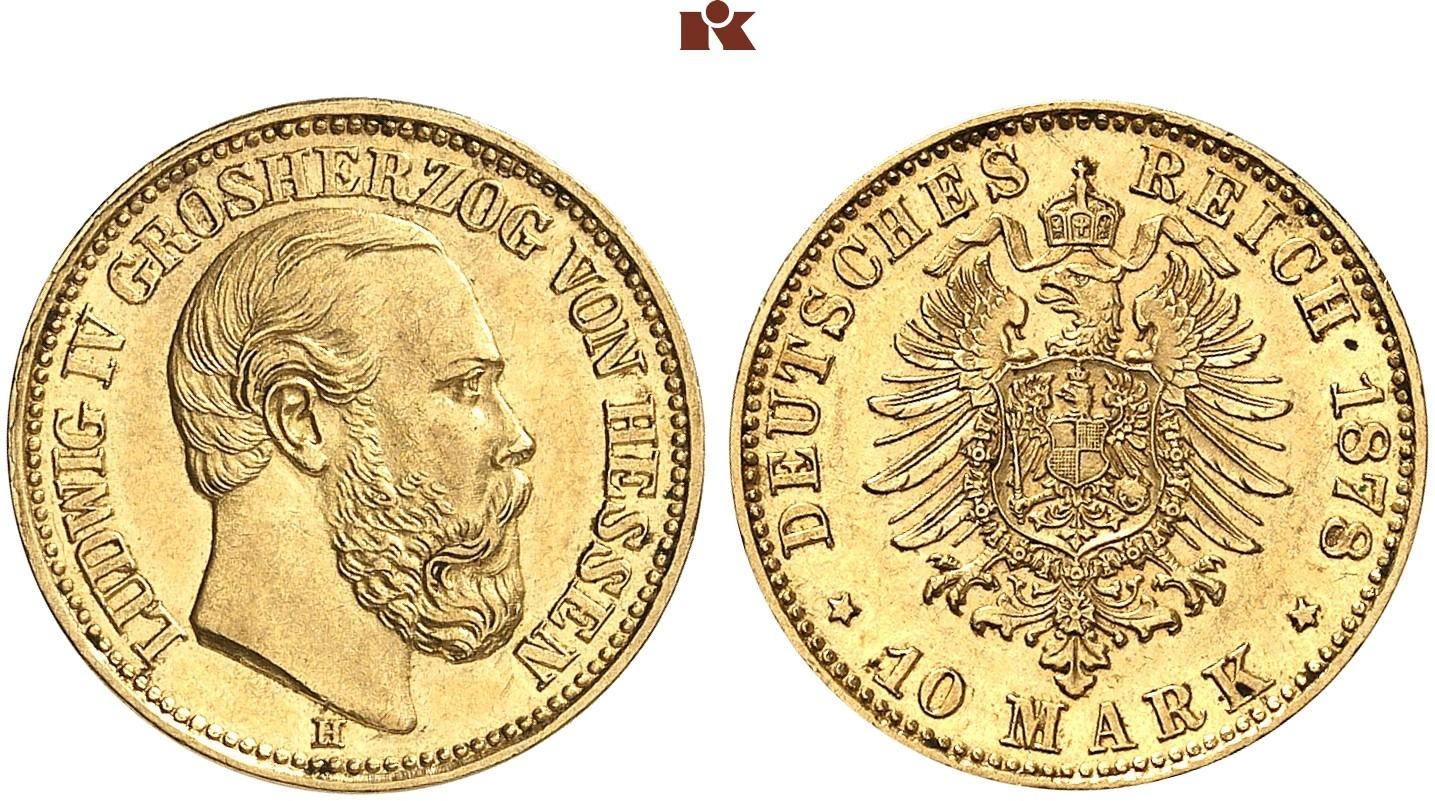 DE 10 Mark 1878 H