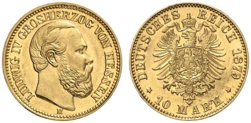 DE 10 Mark 1879 H