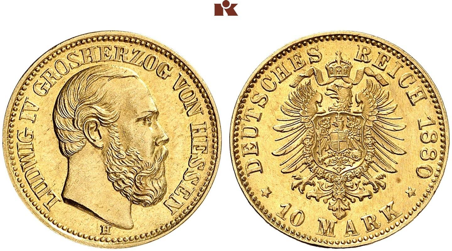 DE 10 Mark 1880 H