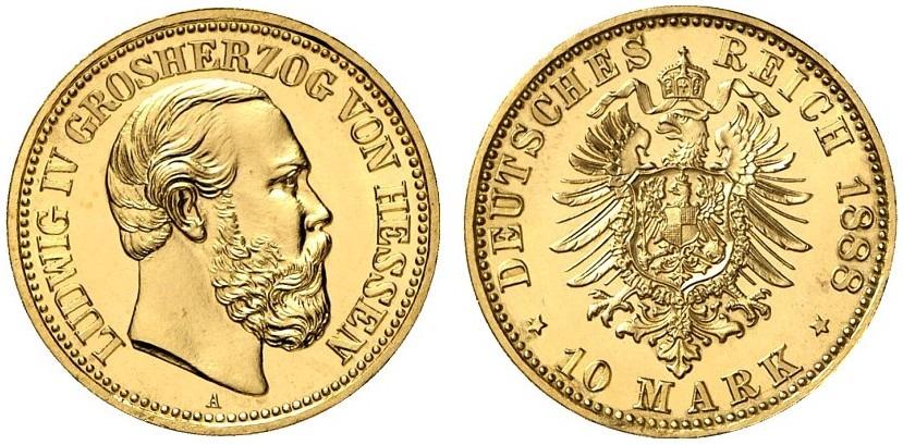 DE 10 Mark 1888 A