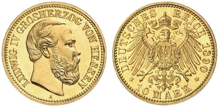 DE 10 Mark 1890 A