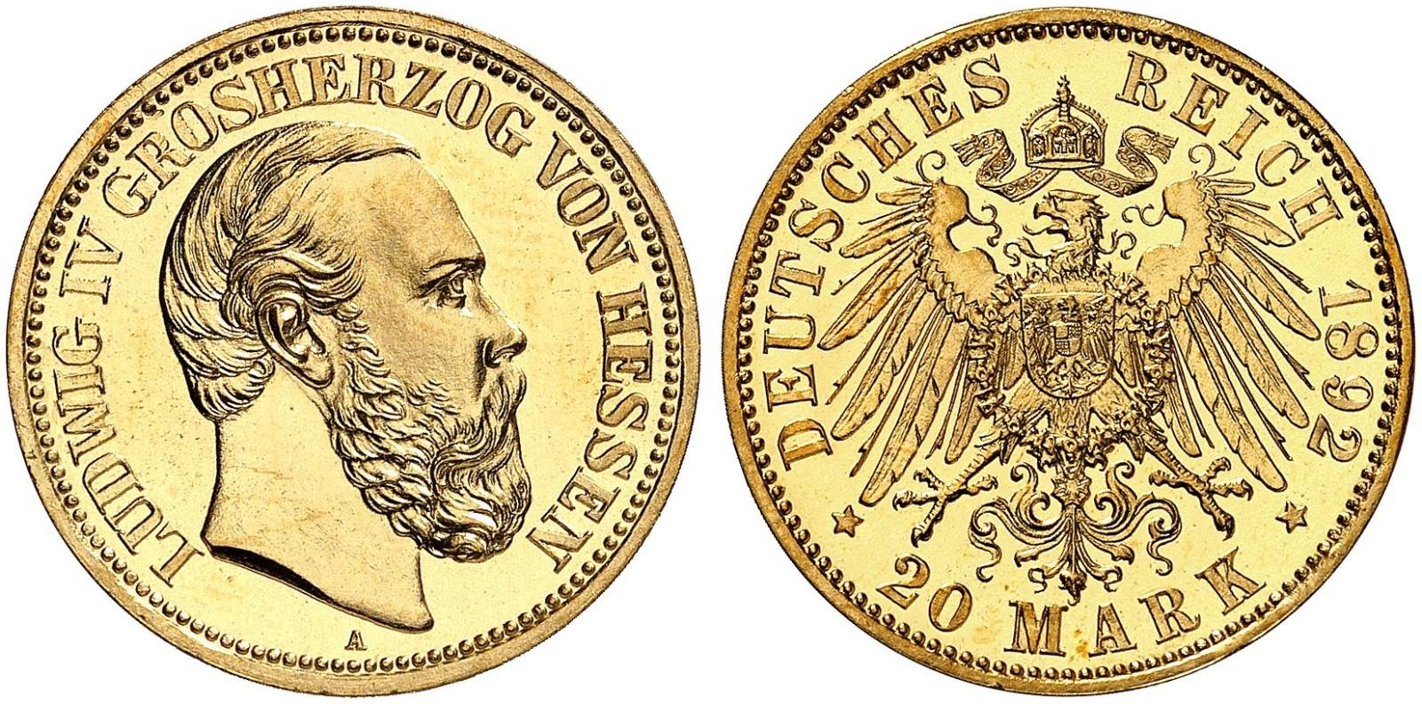 DE 20 Mark 1892 A
