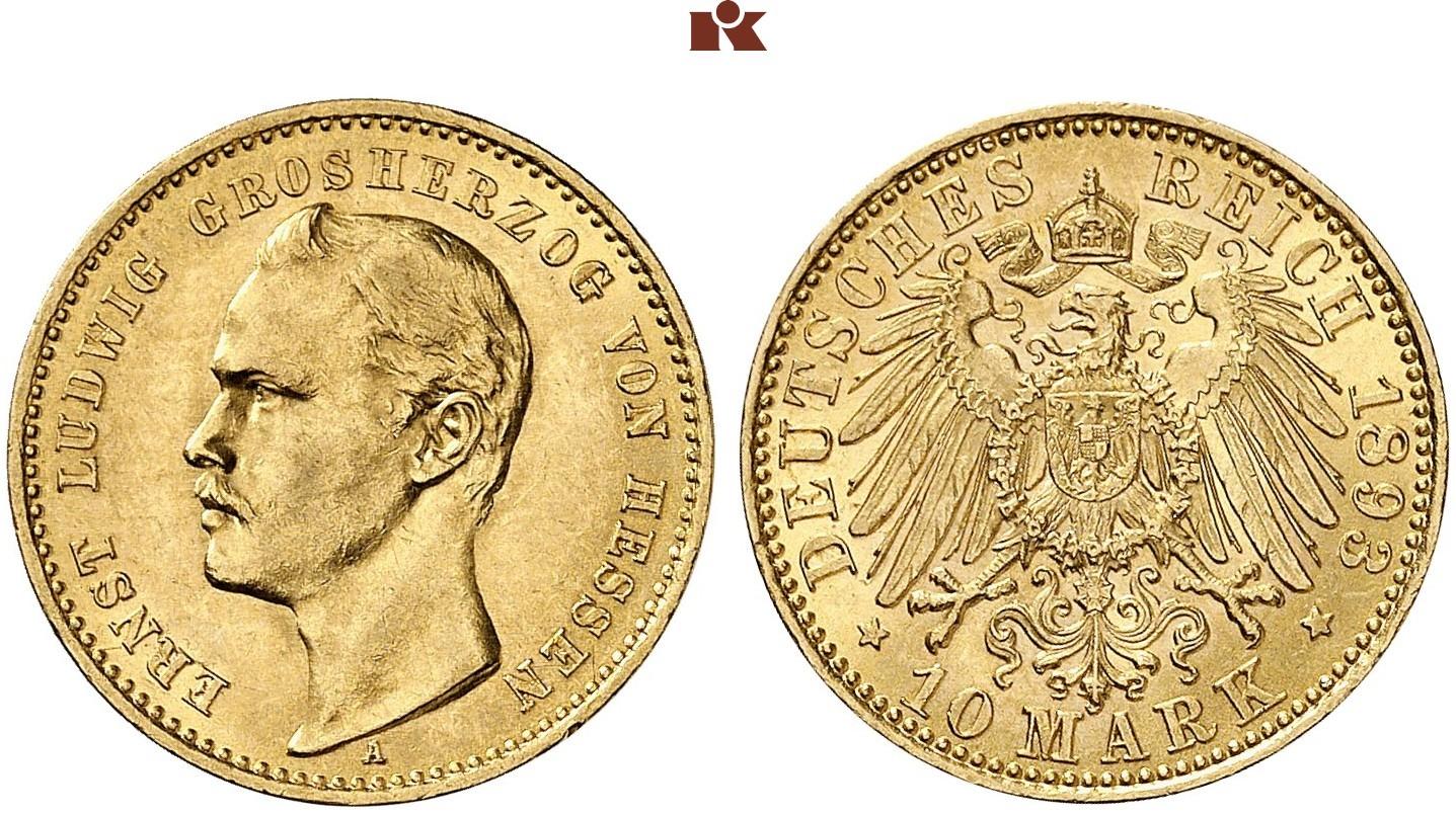 DE 10 Mark 1893 A