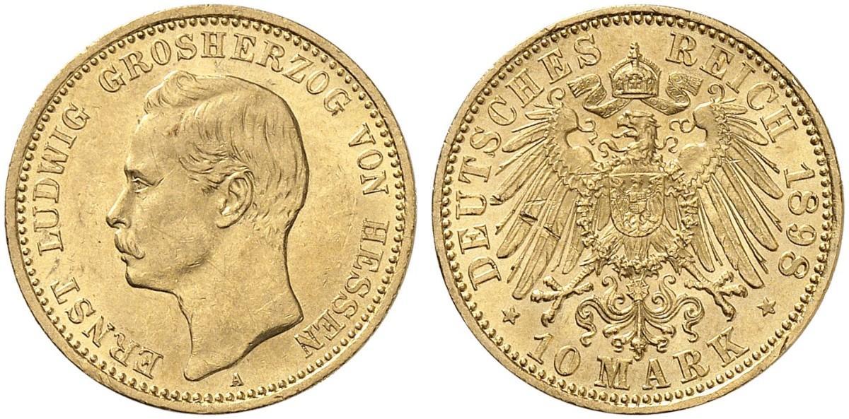 DE 10 Mark 1898 A