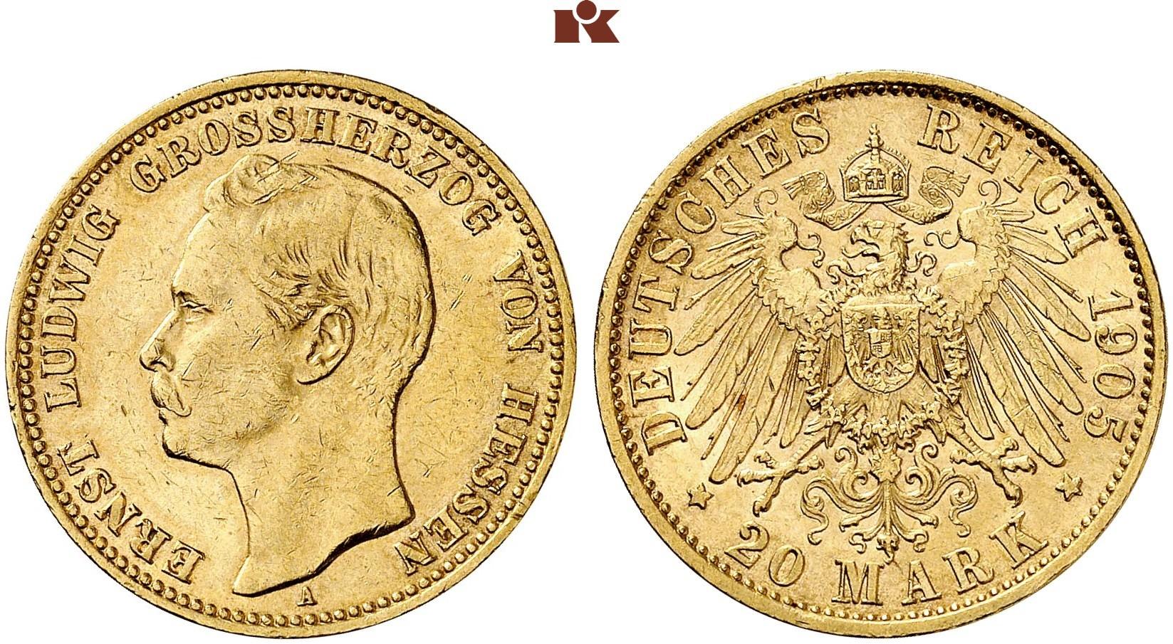 DE 20 Mark 1905 A