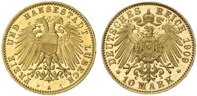 DE 10 Mark 1909 A