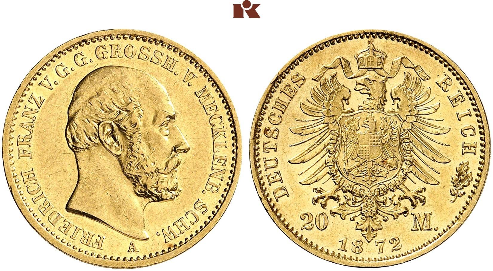 DE 20 Mark 1872 A