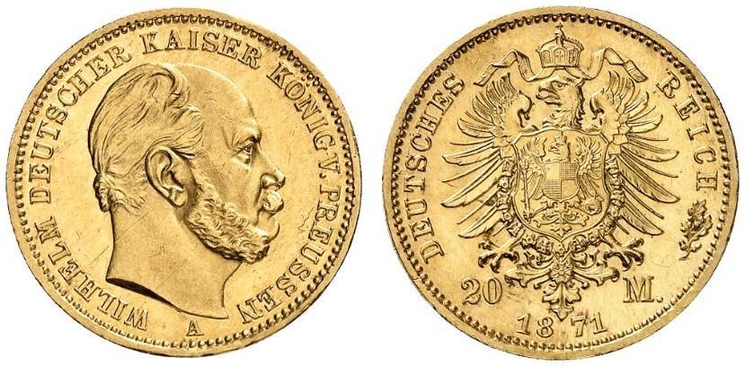 DE 20 Mark 1871 A