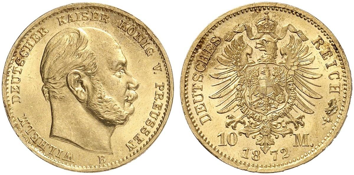 DE 10 Mark 1872 B