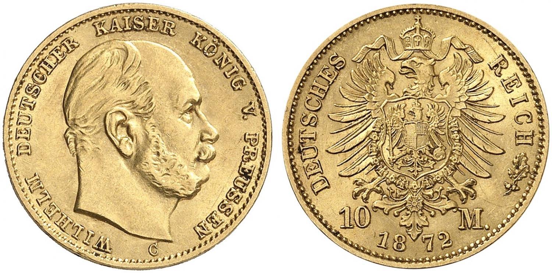 DE 10 Mark 1872 C